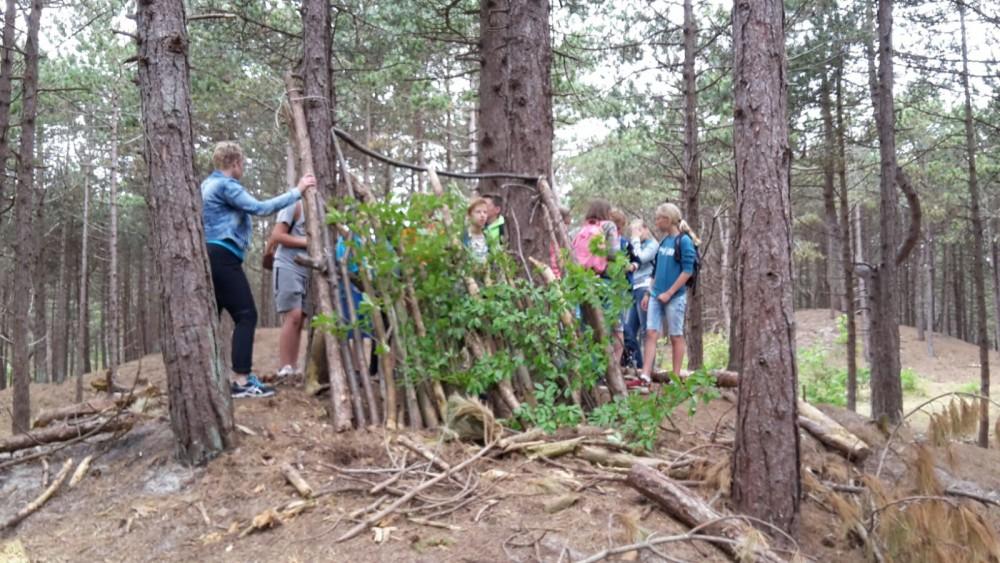 Voorkeur Hutten bouwen groep 7 en 8 | OBS Prinses Margrietschool Terschelling PD98